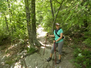 Hiking off the Blue Ridge Parkway near Waynesboro, Virginia